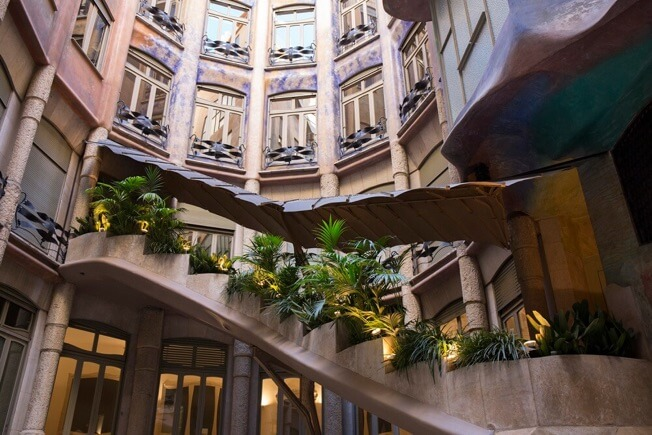 visit pedrera awakening courtyards