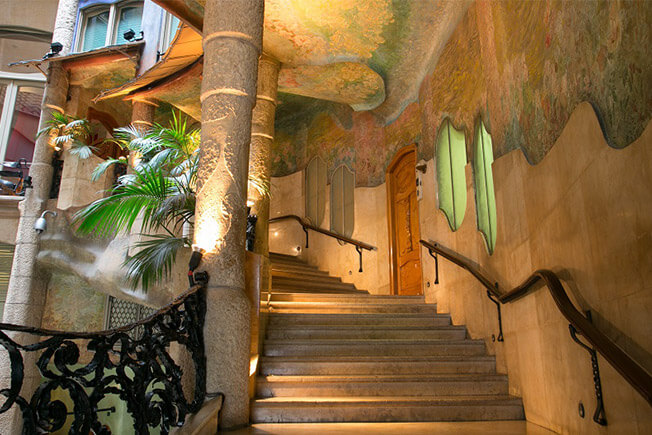 visit pedrera by day courtyards nature