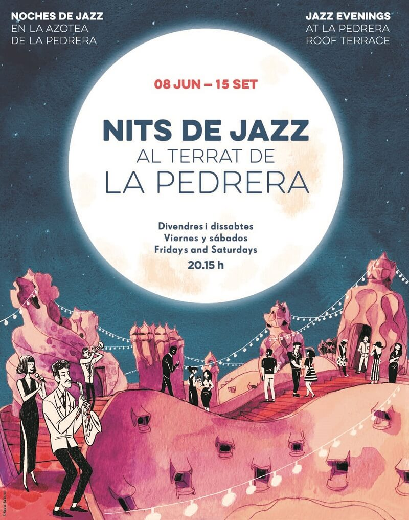 Summer jazz nights at the rooftop Casa Milà