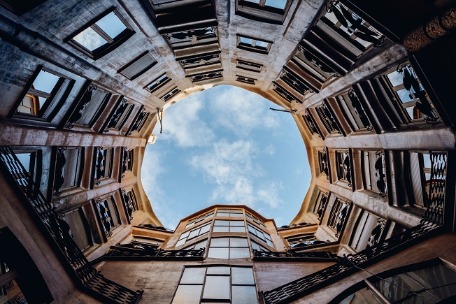 visit pedrera by day courtyards windows