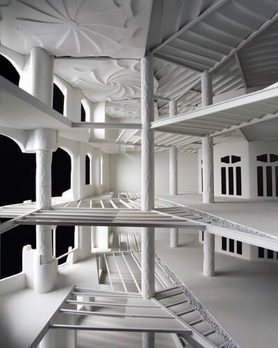 arquitectura pedrera maqueta gaudi