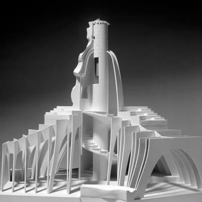 arquitectura pedrera maqueta gaudi golfes